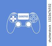 Outline gamepad. Gamepad illustration for web, mobile apps, design. Vector illustration.