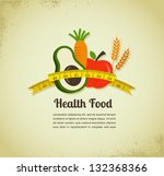 health food and diet background | Shutterstock .eps vector #132368366