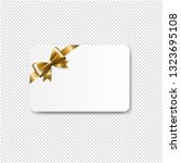 gift card golden bow isolated... | Shutterstock .eps vector #1323695108