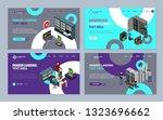 server hardware landing web... | Shutterstock .eps vector #1323696662