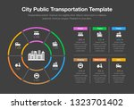 infographic for city public... | Shutterstock .eps vector #1323701402