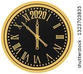 christmas 2020 new year gold... | Shutterstock .eps vector #1323703835