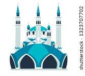 blue mosque vector illustration.... | Shutterstock .eps vector #1323707702