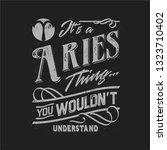 zodiac typography t shirt... | Shutterstock .eps vector #1323710402