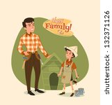 art,background,boy,brother,child,cousin,daughter,design,element,family,father,fifties,girl,happy,home