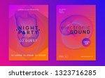 music fest. dynamic gradient... | Shutterstock .eps vector #1323716285