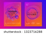 neon flyer. dynamic gradient... | Shutterstock .eps vector #1323716288
