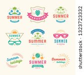 summer holidays labels and... | Shutterstock .eps vector #1323723332