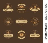 coffee shop logos design... | Shutterstock .eps vector #1323723422