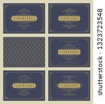 vintage ornament greeting cards ... | Shutterstock .eps vector #1323723548