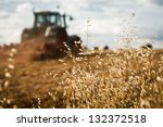 close up of crop with tractor... | Shutterstock . vector #132372518