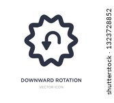 downward rotation icon on white ...