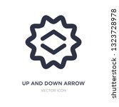 up and down arrow icon on white ...