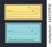 blank check template. check...   Shutterstock .eps vector #1323729938