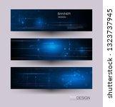 vector banner design circuit...   Shutterstock .eps vector #1323737945