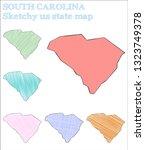 south carolina sketchy us state....   Shutterstock .eps vector #1323749378