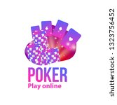 poker casino logo place for... | Shutterstock .eps vector #1323756452