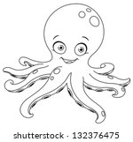 Outlined Octopus. Coloring Page