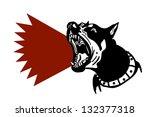 dog barking | Shutterstock .eps vector #132377318