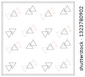 triangle pattern scarf | Shutterstock .eps vector #1323780902