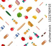 seamless grocery set pattern.... | Shutterstock .eps vector #1323780935