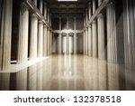 column interior empty room  law ... | Shutterstock . vector #132378518
