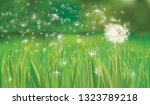 vector spring background with... | Shutterstock .eps vector #1323789218