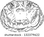 vector   crocodile head... | Shutterstock .eps vector #132379622