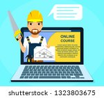 professional online courses of... | Shutterstock .eps vector #1323803675