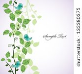 card design with birds on the...   Shutterstock .eps vector #132380375