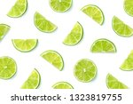 Fruit Pattern Of Lime Slices...