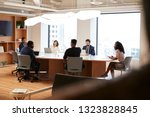 group of business professionals ... | Shutterstock . vector #1323828845