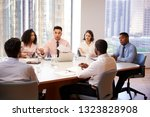 group of business professionals ... | Shutterstock . vector #1323828908