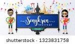songkran festival  thailand... | Shutterstock .eps vector #1323831758