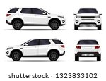 realistic suv car. front view ... | Shutterstock .eps vector #1323833102
