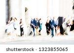 motion blur of walking people....   Shutterstock . vector #1323855065