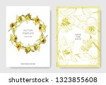 vector yellow narcissus floral... | Shutterstock .eps vector #1323855608