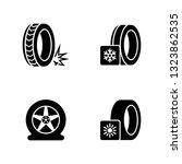 seasonal tyre fitting. simple... | Shutterstock .eps vector #1323862535