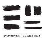 brush stroke set isolated on... | Shutterstock .eps vector #1323864515