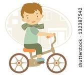 Illustration Of Little Boy On...