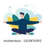 vector illustration  concept of ... | Shutterstock .eps vector #1323876392