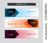 vector abstract web banner... | Shutterstock .eps vector #1323880982