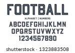 Sport Style Font. Football...