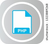 vector php icon  | Shutterstock .eps vector #1323889268