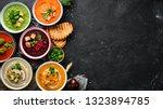 assortment of colored vegetable ... | Shutterstock . vector #1323894785
