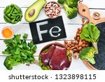 food containing natural iron.... | Shutterstock . vector #1323898115