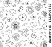 vector hand drawn flowers ...   Shutterstock .eps vector #1323908582