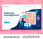 landing page template software... | Shutterstock .eps vector #1323929255