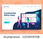 landing page template data view ... | Shutterstock .eps vector #1323929258