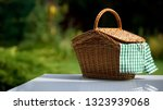 Picnic Basket With Checkered...